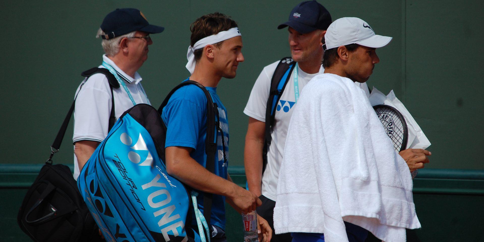 Casper Ruud og Rafael Nadal.
