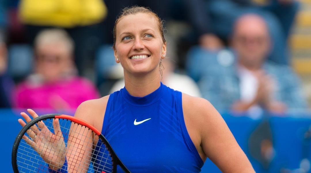 Petra Kvitova i sin første Grand Slam-finale etter knivangrepet