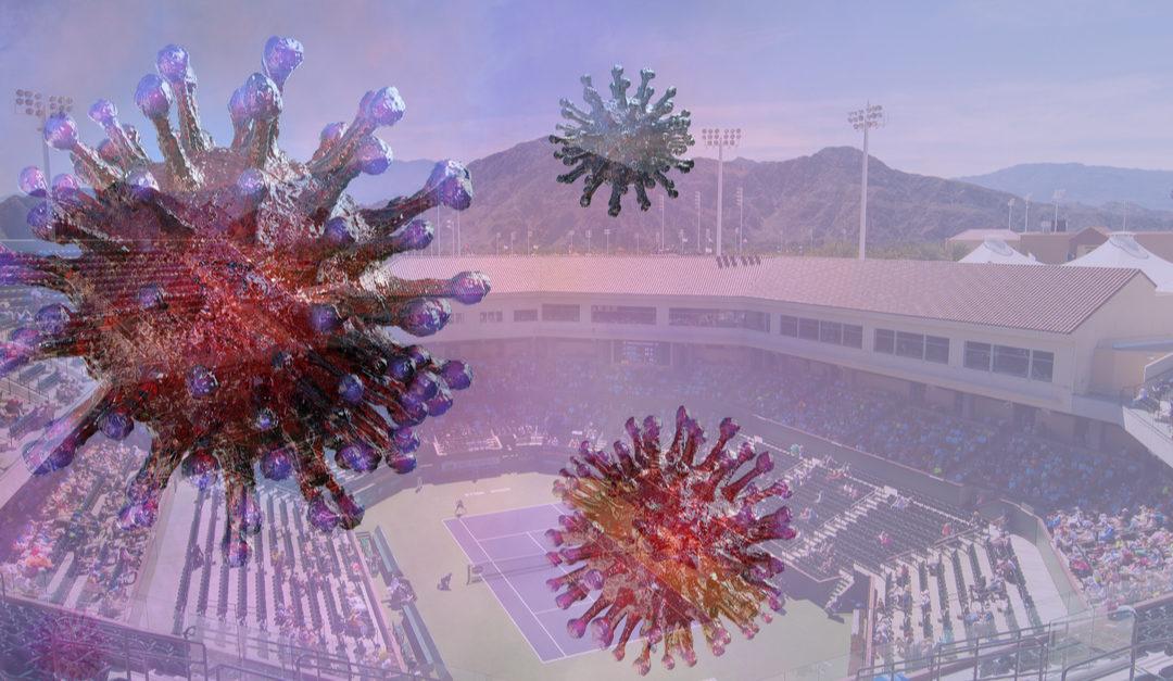 Indian Wells tar grep mot korona-viruset